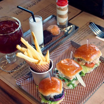 Burger Afternoon Tea for Two at BRGR.CO