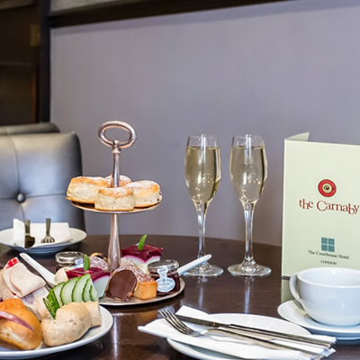 Champagne Afternoon Tea for Two at the Courthouse Hotel